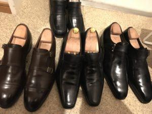 男性用の5万円以上する革靴